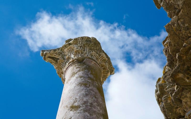Columna del teatro de Regina Turdulorum