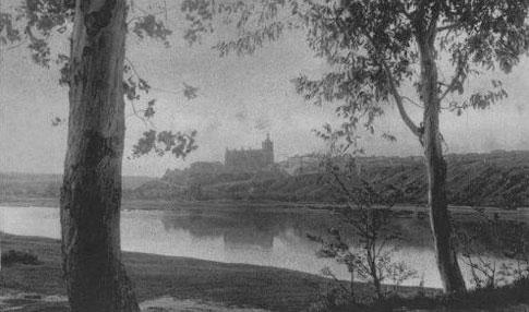 Antigua imagen del Río Alagón en Coria