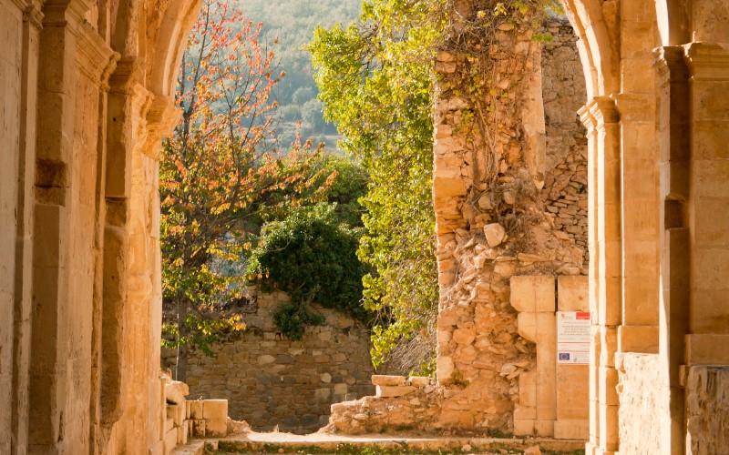 Así lucen las ruinas del Monasterio de Santa María de Rioseco