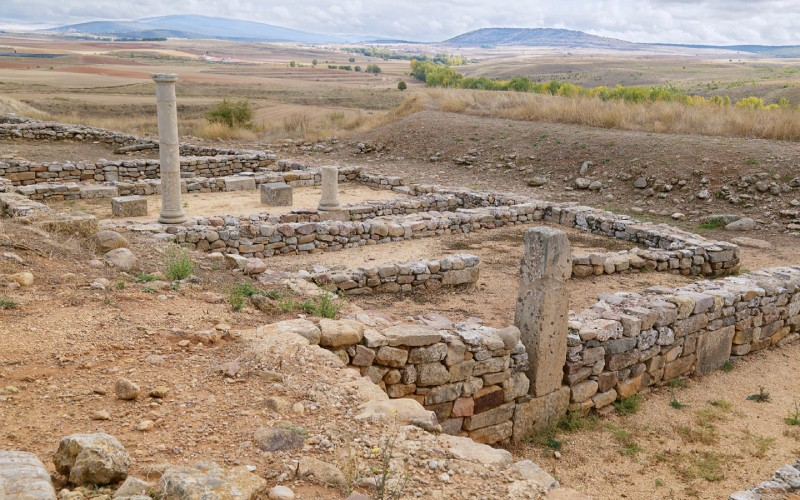 Ruinas de lo que llegó a ser una parte importante de la ciudad de Numancia en las famosas guerras románicas