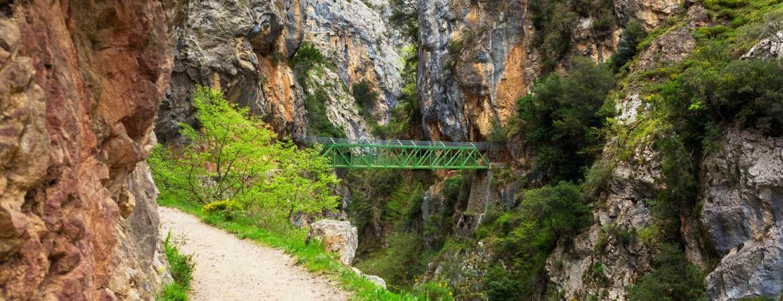 Puente de Los Rebecos de la Ruta del Cares