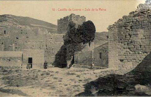 fotografia antigua Sala de la Reina en el Castillo de Loarre