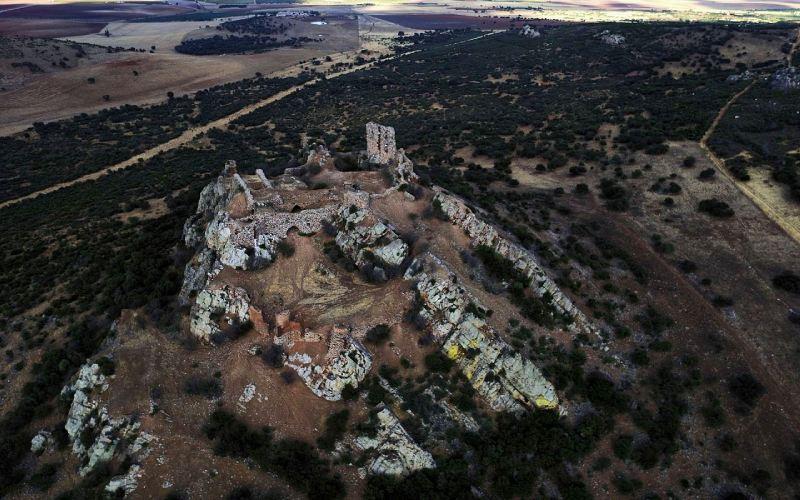 Vista aérea del castillo de Salvatierra