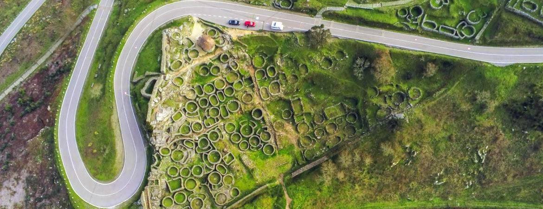 Vista aérea del castro de Santa Tecla