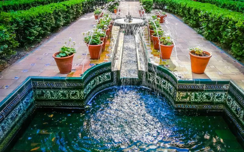 Segundo jardín del Museo de Sorolla inspirado en el Generalife de Granada