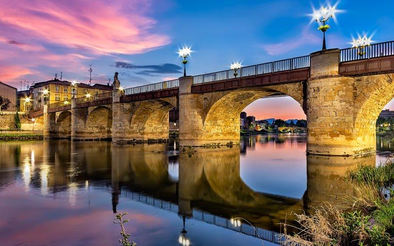 Puente de Carlos III en Miranda de Ebro, Burgos