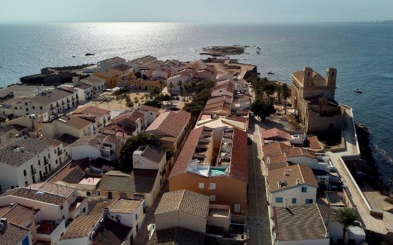 Vista aérea de la isla de Nueva Tabarca