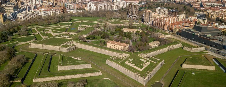 Vista aérea de la ciudadela de Pamplona