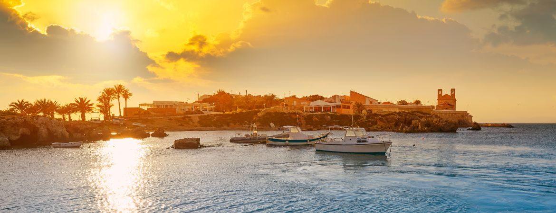 Atardecer en la isla de Tabarca