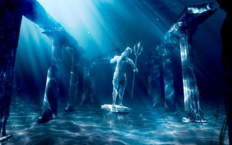 Dios Poseidón en la Atlántida. | Shutterstock