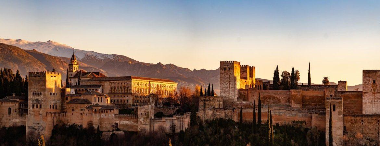 Atardecer en la Alhambra de Granada