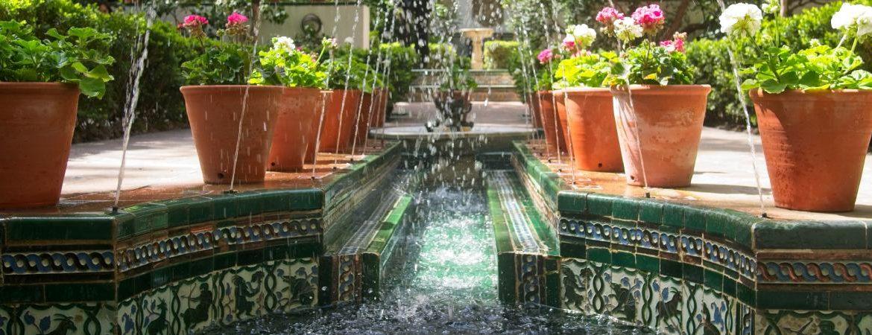 Jardín del Museo Sorolla inspirado en el Generalife de Granada