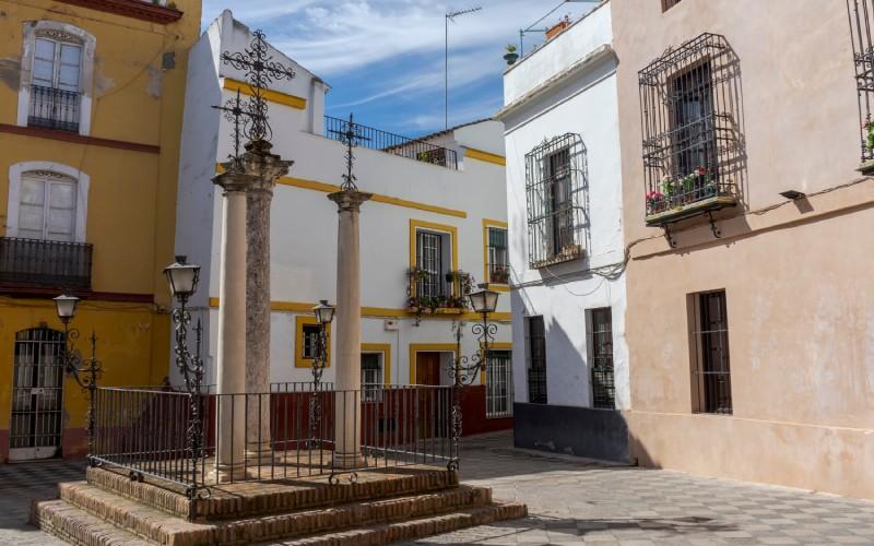 La antigua judería en el barrio de Santa Cruz de Sevilla