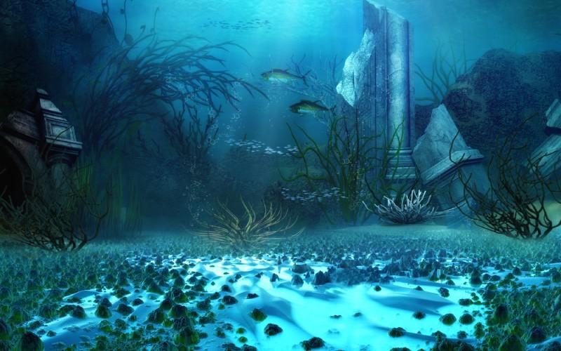 Restos de la Atlántida bajo el agua. | Shutterstock