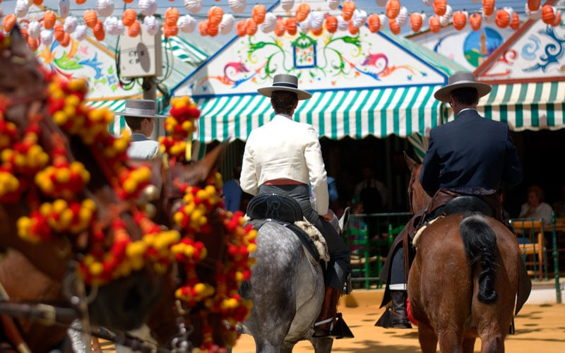 Feria de Málaga fiestas patronales de España en agosto