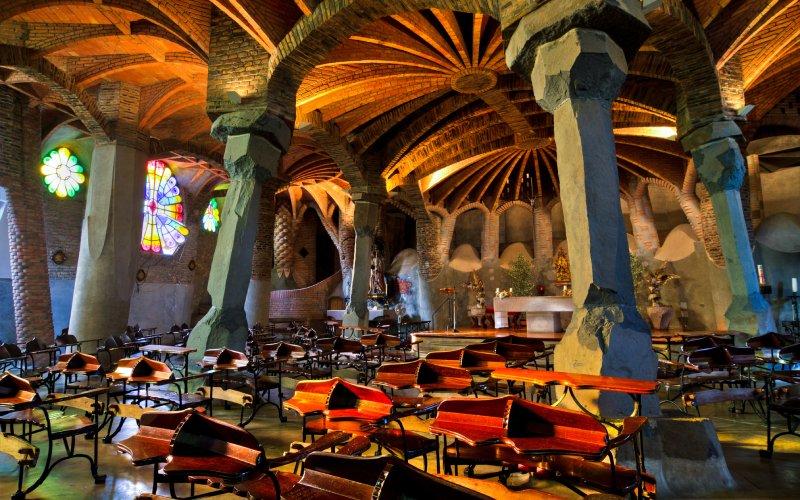El interior de la cripta