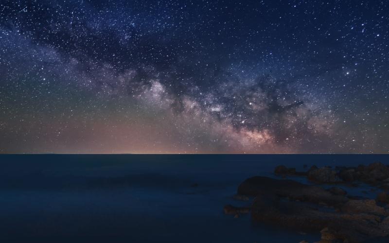 Cielo nocturno en la isla de Tabarca