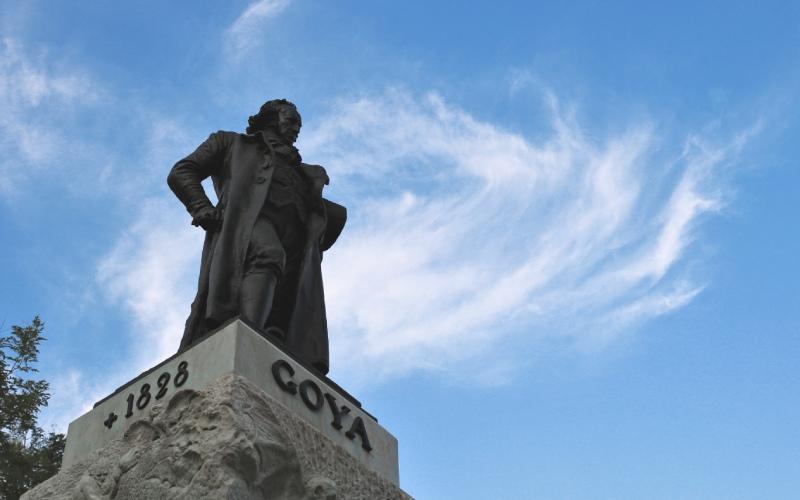 Estatua de Francisco de Goya en Madrid