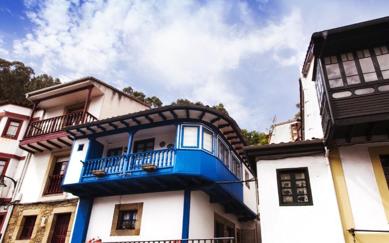 Casas tradicionales de Tazones