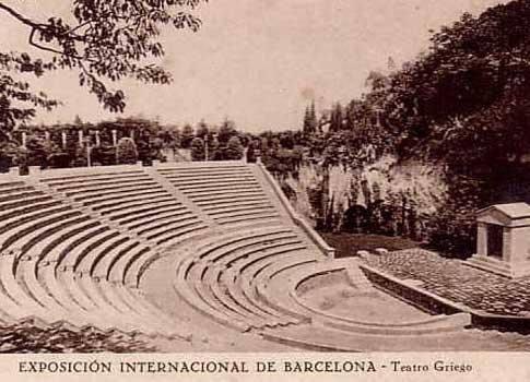 teatro griego barcelona foto antigua
