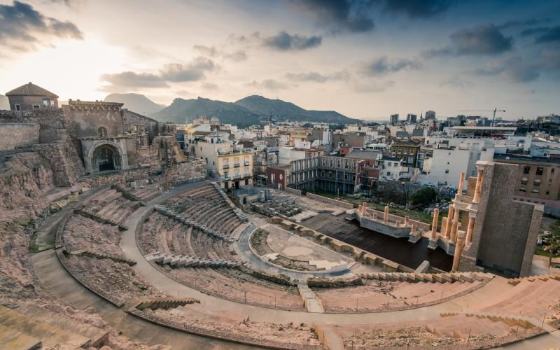 Vista del Teatro Romano de Cartagena