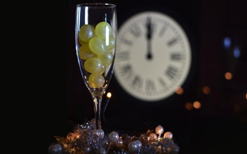 Tradición de las doce uvas de la buena suerte