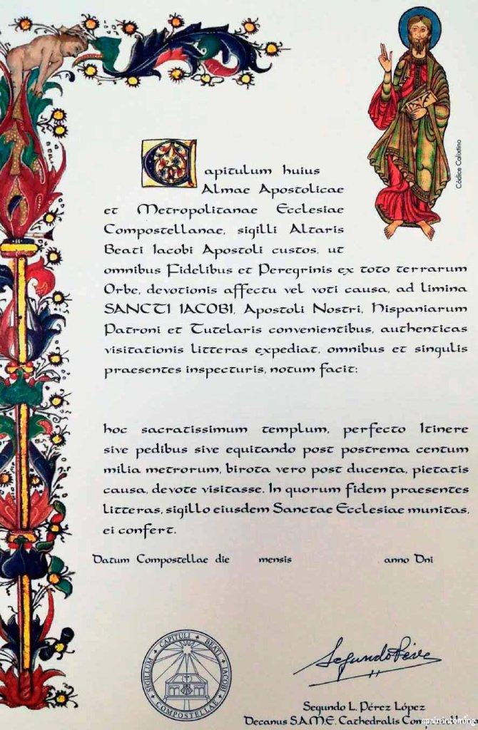 traducción de la Compostela actual