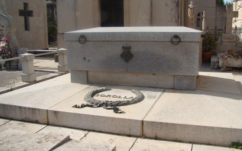 Tumba de Joaquín Sorolla museo del silencio valencia cementerio