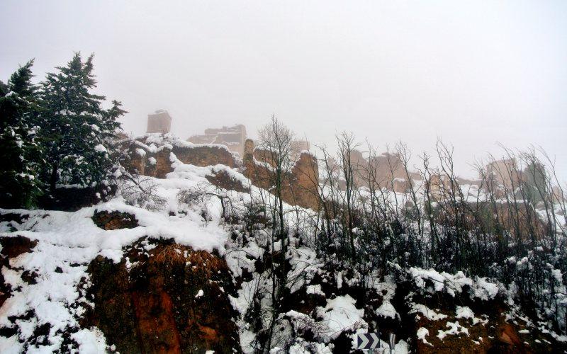 Vistas desde la zona baja de Turruncún en invierno