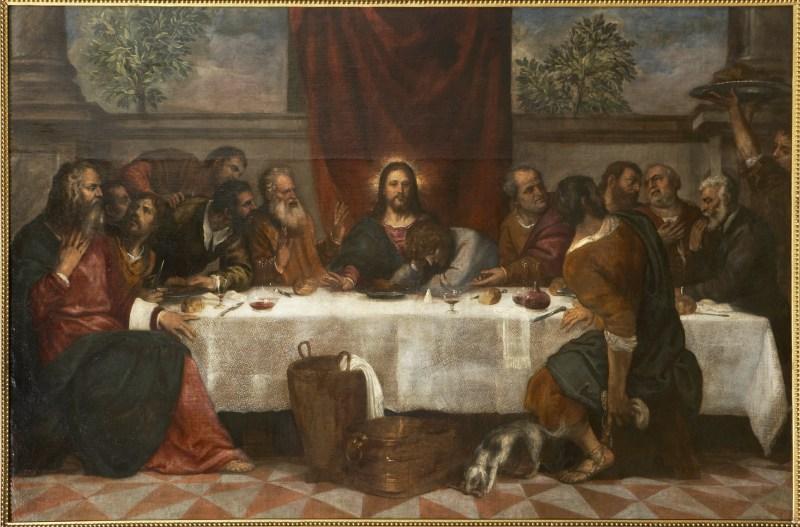 Ultima cena, Tiziano y taller, c.1550-1555