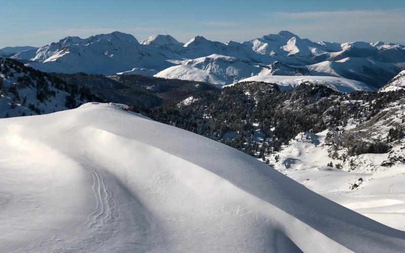 El Valle de Larra en Belagua, cubierto de nieve