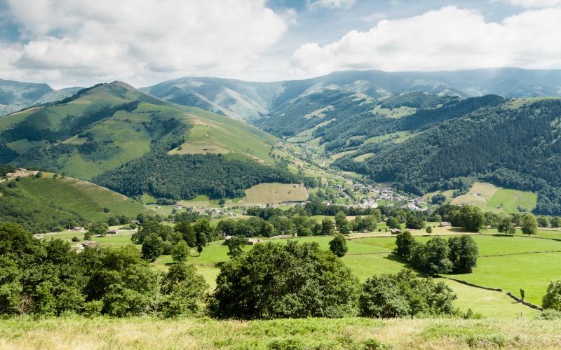 Vista de Vega de Pas, en Cantabria