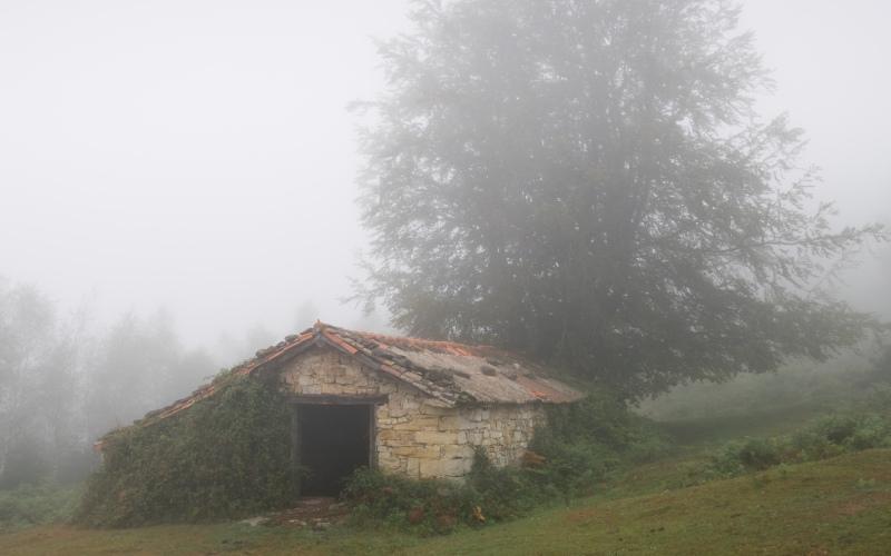 Viejo granero en la provincia de Álava
