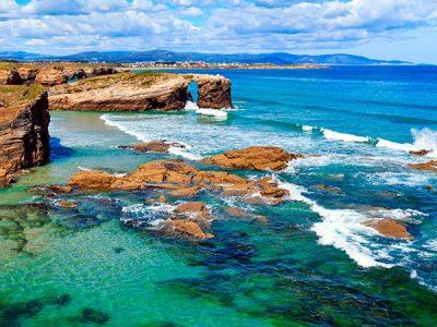 Playas vírgenes de los parques naturales de Galicia