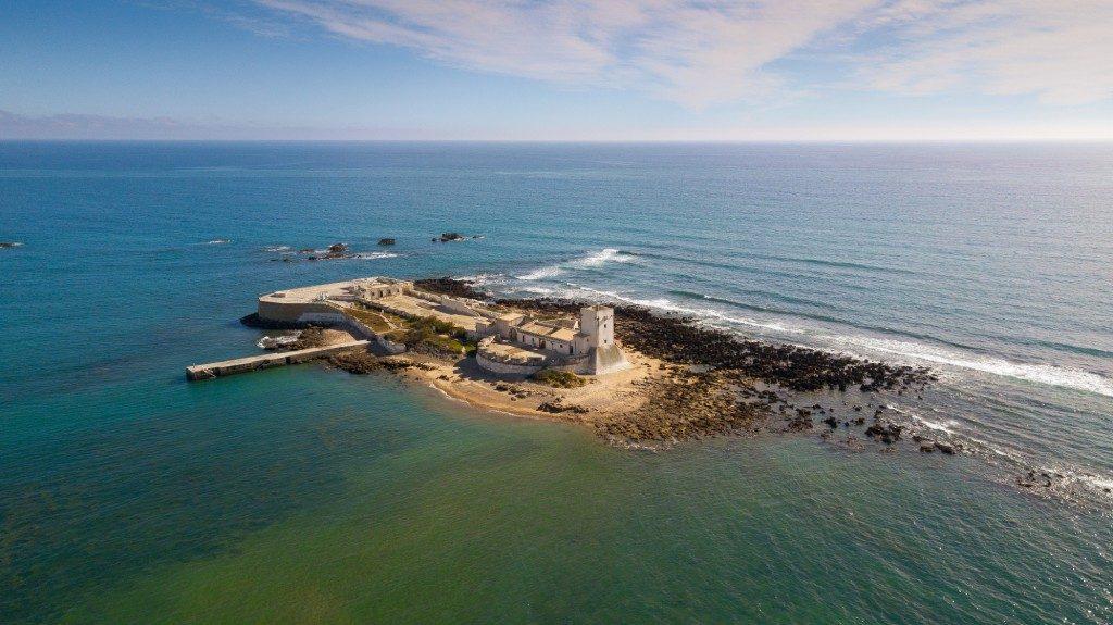 Vista aérea del Castillo de Sancti Petri