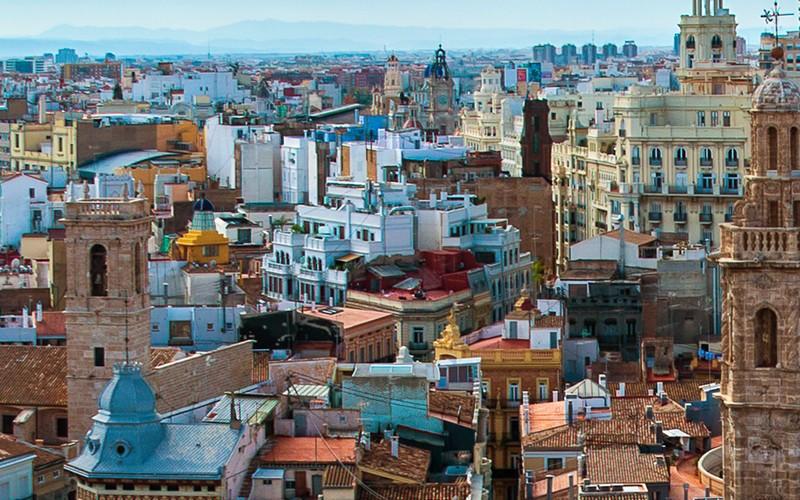 Vista aérea Valencia Medieval