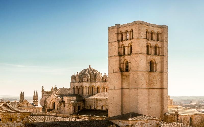 Vista de la Catedral de Zamora desde el castillo