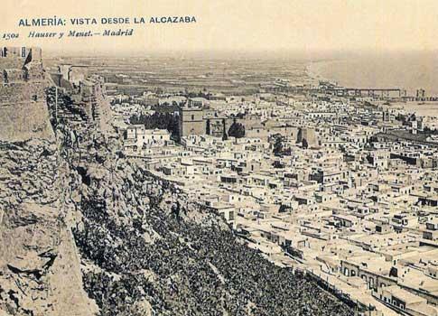 foto antigua Vista desde la Alcazaba / Hauser y Menet en Almería