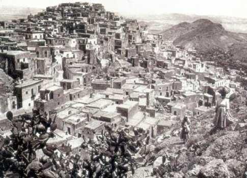 antigua fotografía Vista general de Mojácar