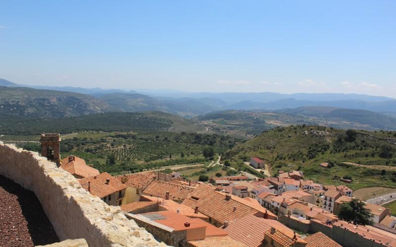 Vistas desde el Castillo de Culla, Castellón