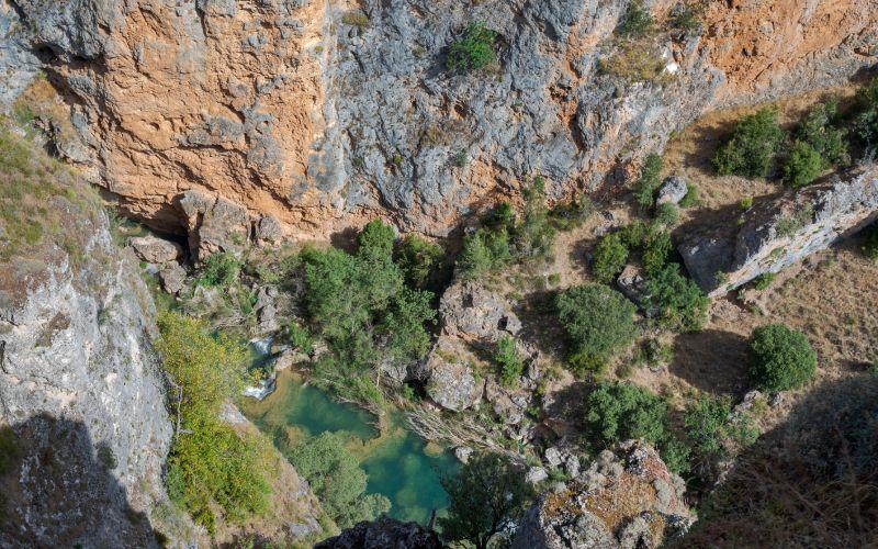 Vistas al río Júcar desde el mirador del Ventano del Diablo