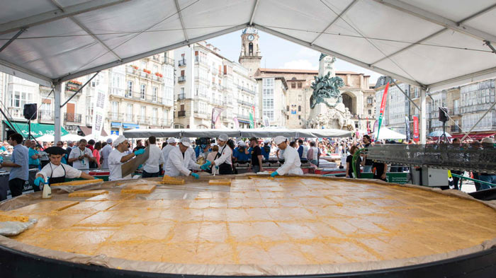 record guinness tortilla patatas vitoria