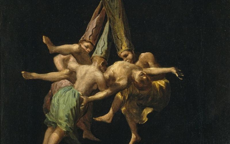 Vuelo de brujas, Goya (1798)