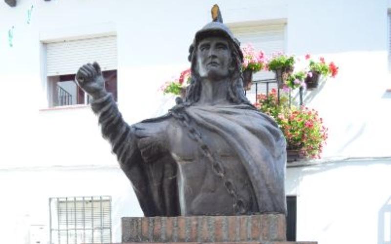 Busto del rey Wamba en Pujerra
