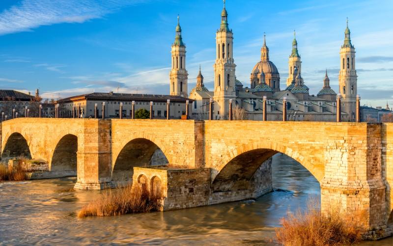 Imagen de la Basílica de El Pilar, en Zaragoza